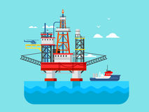 drilling-rig-sea-oil-platform-gas-fuel-industry-offshore-drill-technology-flat-vector-illustration-58982573